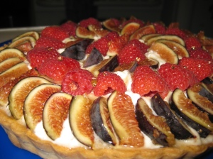 Fig & Raspberry Tart