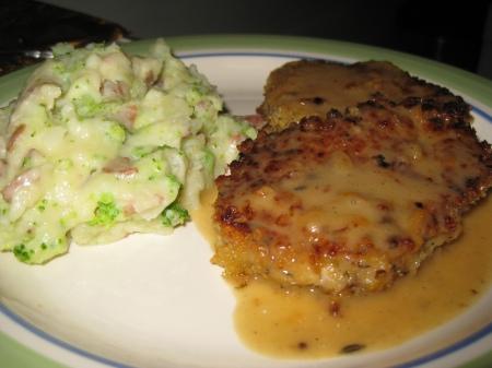 Honey Mustard Pork Chops & Mashed Potatoes