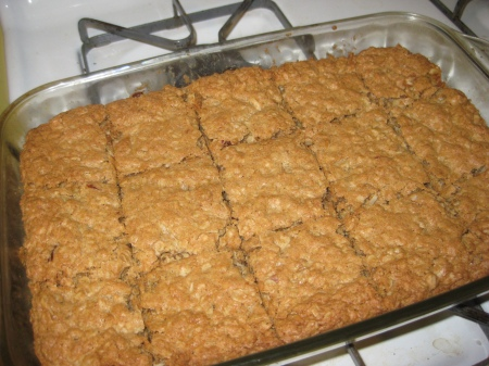 Oatmeal Cookie Bars!