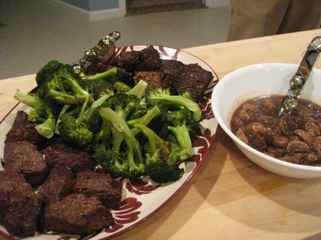 20091010 Island Steak Tips with Broccoli