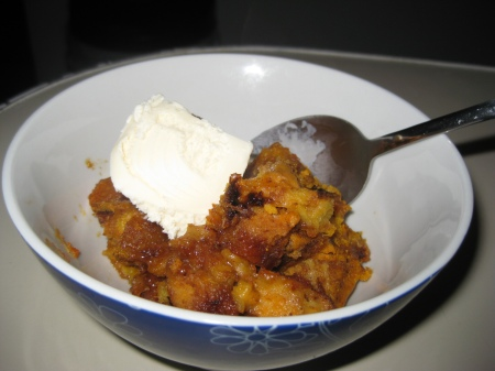 20091027 Pumpkin Bread Pudding 04