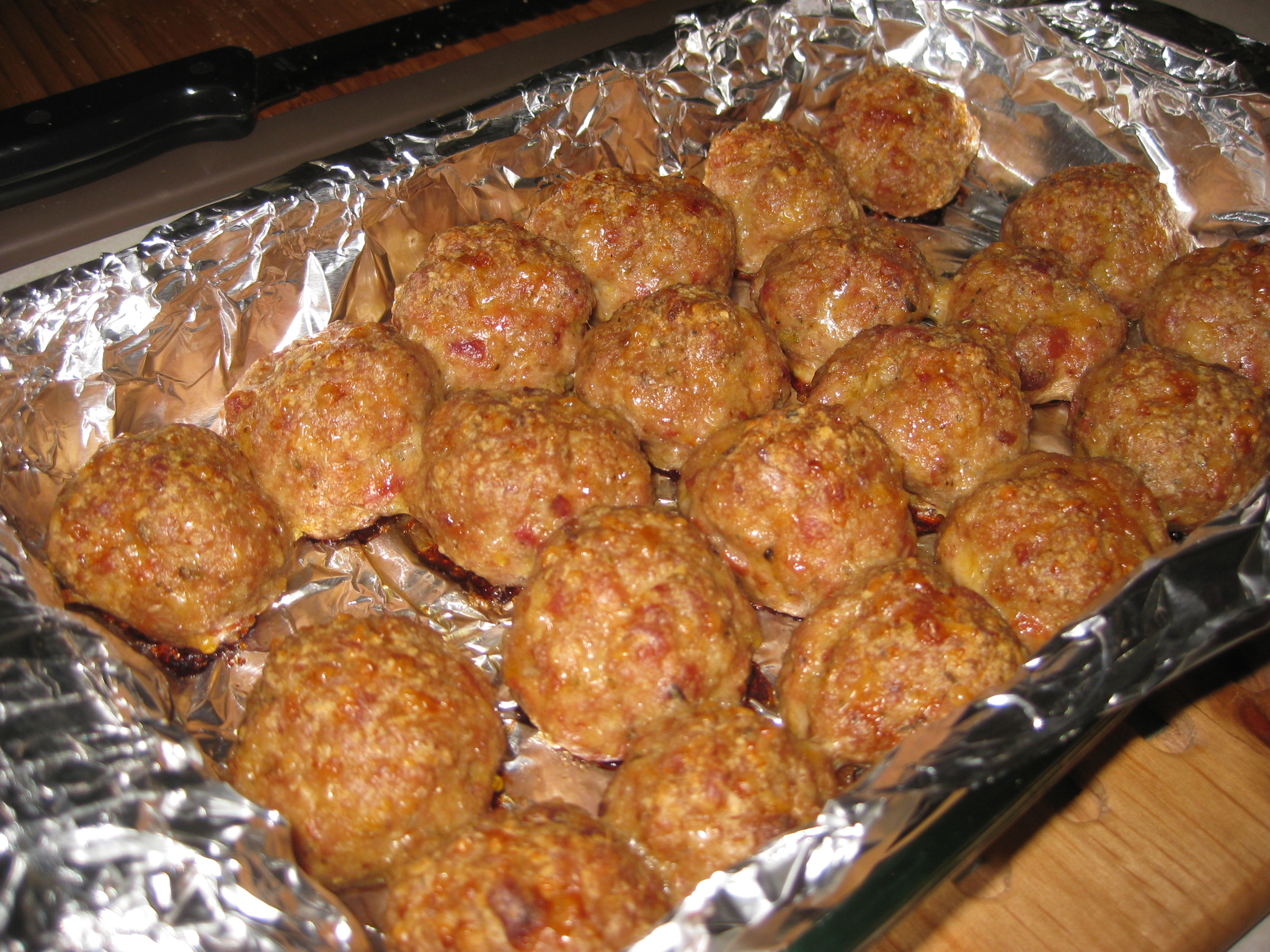 Turkey-Bacon Meatballs