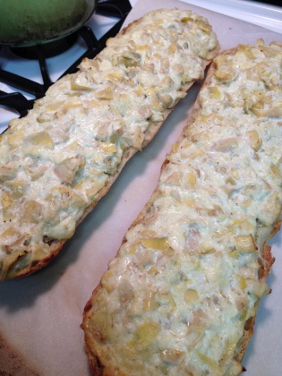 20131208 Artichoke Garlic Bread