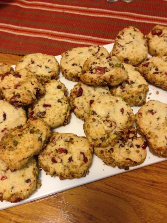 20131208 Pistachio Cranberry Cookies