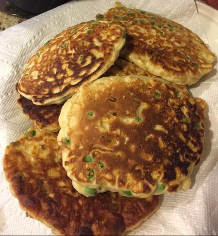 20180918 Corn Pea Pancakes